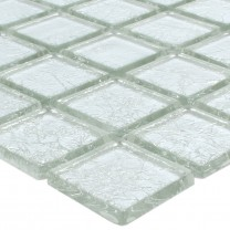 Mosaik Glas Lucca Silver 23x23x4mm