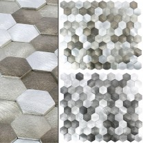 Metall 3D Mosaik Sindos Hexagon