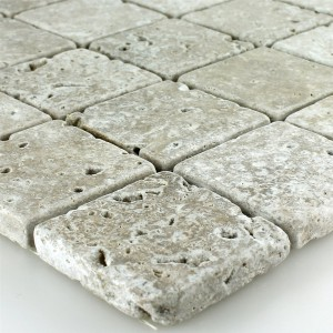 Mosaik Travertin Noce Tumlas 48x48x10mm