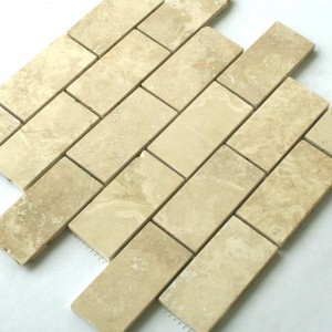 Mosaik Travertin 98x48x10mm Beige