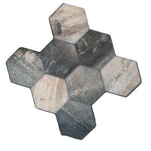 Klinker Hexagon Old Wood Optik 45x45cm