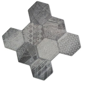 Klinker Hexagon Hologram Optik 45x45cm