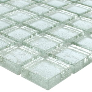 Mosaik Glas Lucca Silver 23x23x8mm