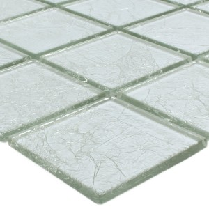 Mosaik Glas Lucca Silver 48x48x4mm