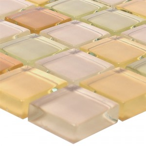 Glasmosaik 23x23x8mm Beige Mix