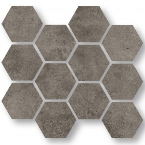Mosaik Oregon Grå Brun Hexagon