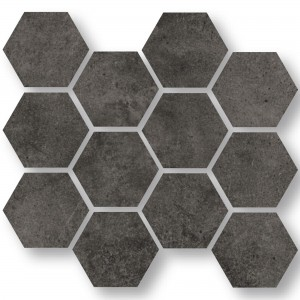 Mosaik Oregon Antracit Hexagon