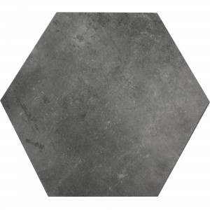 Klinker Halesia Sten Optik Hexagon Svart 52x60cm